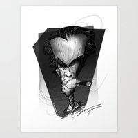 clint eastwood Art Prints featuring Clint Eastwood by alexviveros.net