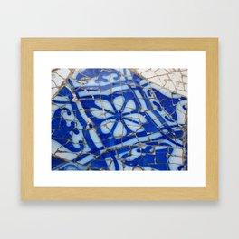 Barcelona Blue Framed Art Print