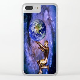 Atlas of the future Clear iPhone Case