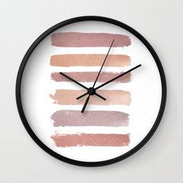 Dusty Rose Stripes Wall Clock