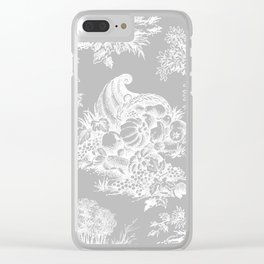 toile tradition grey Clear iPhone Case