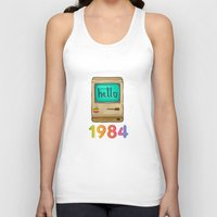 1984 Tank Tops featuring 1984 by Laura Wood