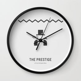 Flat Christopher Nolan movie poster: The Prestige Wall Clock