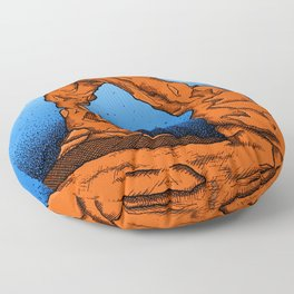 Delicate Arch (Color) Floor Pillow