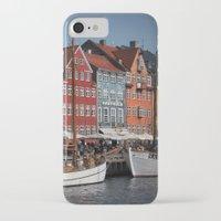 copenhagen iPhone & iPod Cases featuring Nyhavn, Copenhagen by Paul J Davis Photography