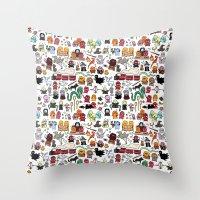 potter Throw Pillows featuring Kawaii Harry Potter Doodle by KiraKiraDoodles