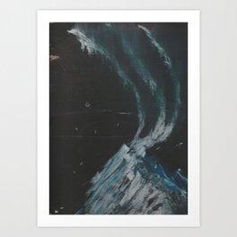Bob Ross Style Mountain Dark Art Print
