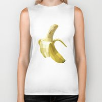 banana Biker Tanks featuring Banana by Liam Brazier