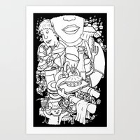 Mind Wandering in the Cafe Art Print