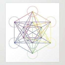 metatrons cube Art Print