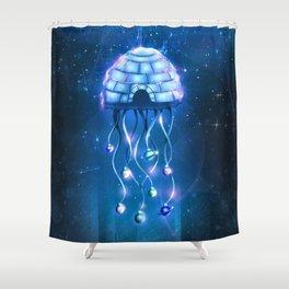 Christmas Jellyfish Shower Curtain