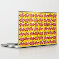 pigs Laptop & iPad Skins featuring Flying Pigs by Adrian Roman