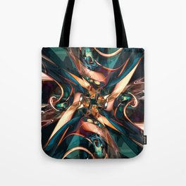 Abstract Colorful Shapes Tote Bag