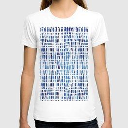 Shibori Braid Vivid Indigo Blue and White T-shirt