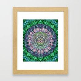 Iridescent Cosmic Eye Depth Meditation Transcendental Mandala Framed Art Print