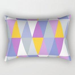 Yellow, Purple & White Triangles Rectangular Pillow