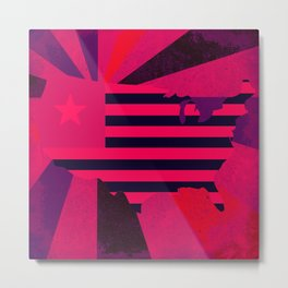 Love stops Hate 1 - USA in Pink 2017 Metal Print