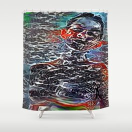 Explicit Abstractique Woman Shower Curtain