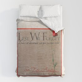 Lest We Forget Comforters