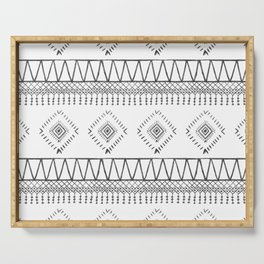 Gray Boho Aztec Serving Tray