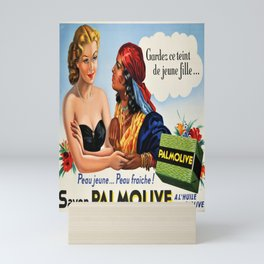 Advertisement peau jeunepeau fraiche savon Mini Art Print
