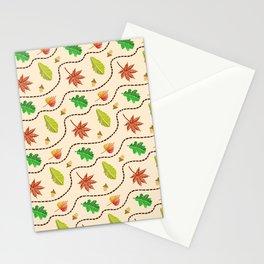 Autumn Leaf Wave Stationery Cards