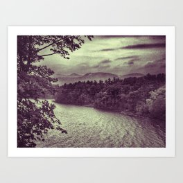 View from Camp Dudley, Westport NY Art Print