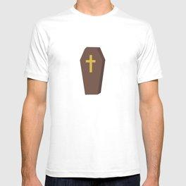 Halloween coffin with cross T-shirt