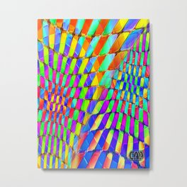 Tumbler #32 Psychedelic Optical Illusion Design by CAP Metal Print