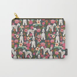 Bedlington Terrier floral dog breed gifts for unique pet lover Carry-All Pouch