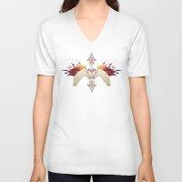 unicorn V-neck T-shirts featuring unicorn by Manoou