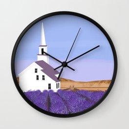 Lavender Churchyard Wall Clock