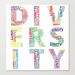 Unity in Diversity Colourful Baha'i inspired design Canvas Print