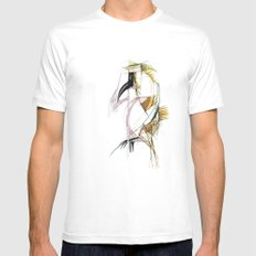 EXOTIC PARROT 2 Mens Fitted Tee MEDIUM White
