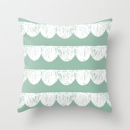 Scallop Design Throw Pillow