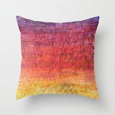 Desert Sunset Pattern Throw Pillow