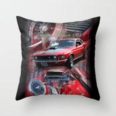 1969 Mustang Mach 1 CJ Throw Pillow