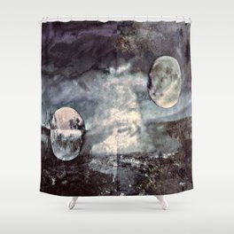 Double Moons Shower Curtain