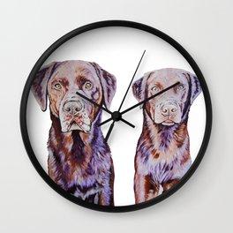 Mocha Chino the Labradors Wall Clock