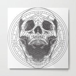 Skull of John Dee Metal Print