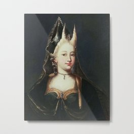 A HORNED WITCH, 18TH CENTURY - ARTIST UNKNOWN Metal Print