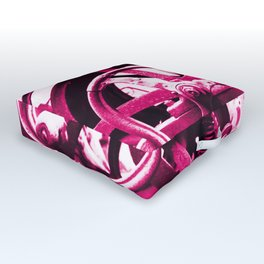 Magenta Pink Machine Outdoor Floor Cushion