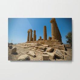 landscape ruined temple Metal Print