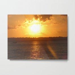 Sunset on Fire Metal Print