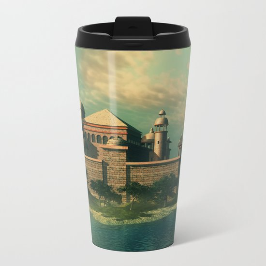 Mystic Fantasy Island Metal Travel Mug
