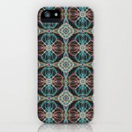Art Deco 43 .Multicolored abstract pattern . iPhone Case