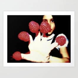 Raspberry fingers Art Print