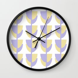 Tulips In Spring Time - Lavender and Lemon Wall Clock