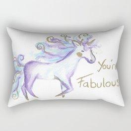 Cute Watercolour Unicorn Rectangular Pillow