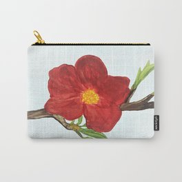 Bright Red Plumb Blossom Carry-All Pouch